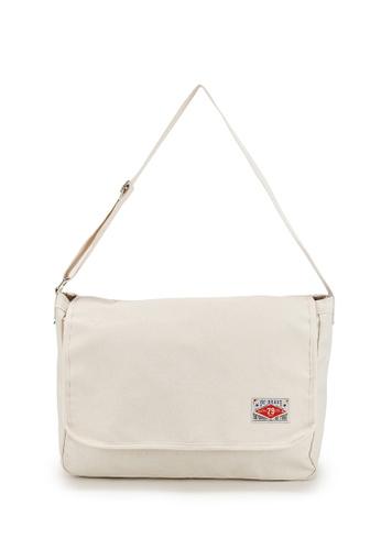 Peeps beige Foundation Messenger Bag 267F2AC5176426GS_1