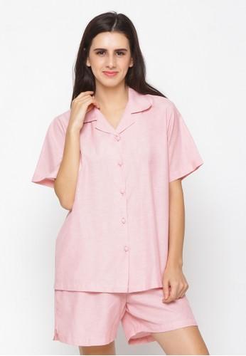 Impression pink Pajamas Set 9105 115F5AA56F784CGS_1
