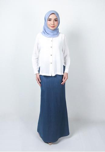 Ladies Jeans blue Muslimah Elegant Long Skirt 5418CAA1048BB5GS_1