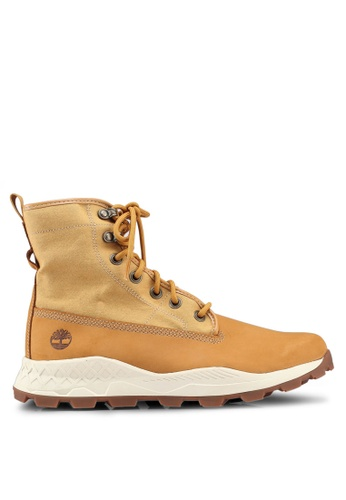 Timberland brown Brooklyn Leather And Fabric Boots D9EAFSH2EDF973GS_1