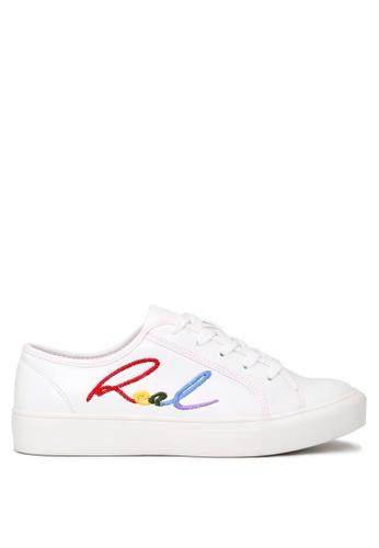 London Rag 白色 London Rag 女生小白鞋 彩色英文刺绣单鞋 5D09BSHFB99299GS_1