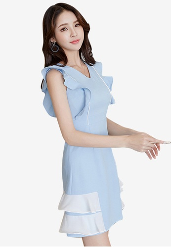 Sunnydaysweety blue Slim Sleeveless One Piece Dress A061216BL CD04BAA918C7DCGS_1