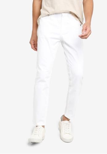 H&M white Skinny 5-Pocket Pants 81192AA7FC2458GS_1