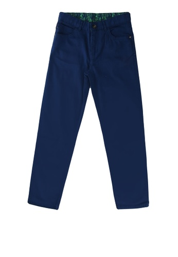 LC Waikiki blue Boy's Slim Gabardine Trousers 55A09KAD110D9CGS_1
