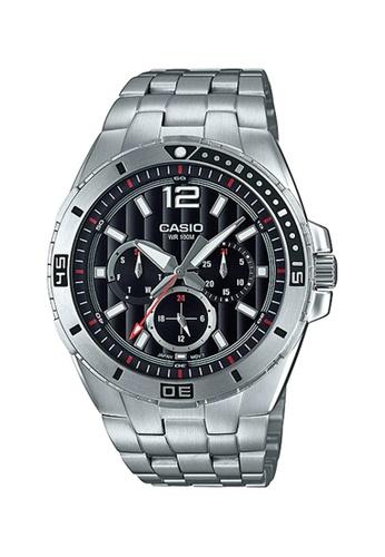 Casio silver Casio Multi Hands Analog Watch (MTD-1060D-1A2) 46A2BAC05E39CCGS_1
