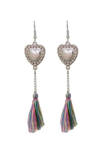 Fur Nyce silver Tibetan Style Heart Pendant Tassel Earrings C07FBAC1D7EFD3GS_1