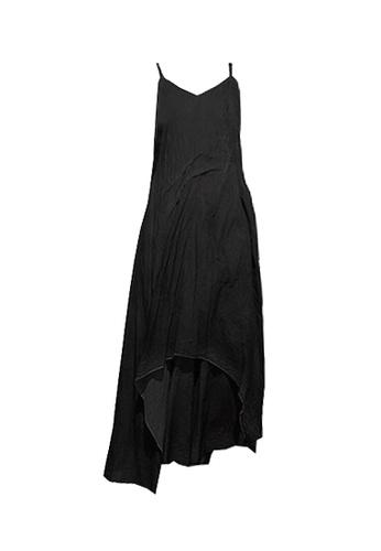 Twenty Eight Shoes 黑色 VANSA 噴染印刷吊帶連衣裙  VCW-D0156 81586AA7A5BD09GS_1