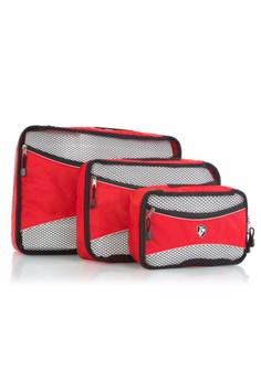 Ecotex 3 pc Packing Cube Set™ *NEW* with Front Zippered Pocket