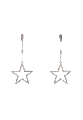 Saturation silver Sirius Star Dangling Earring 43039AC29724A6GS_1