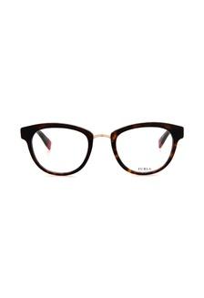 706c706eed Furla VFU027 Havana Brown Gold Eyeglasses FU454AC0RAMCMY 1