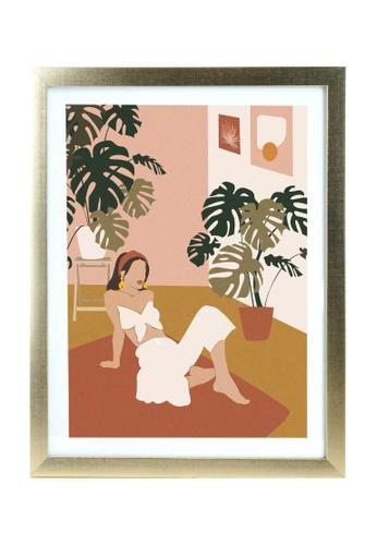 Klosh gold Matt Gold A3 Frame - Terracotta Woman F4673HL3993A92GS_1