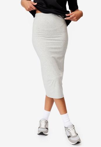 Cotton On grey Essential Midi Skirt 261BBAA3300D50GS_1