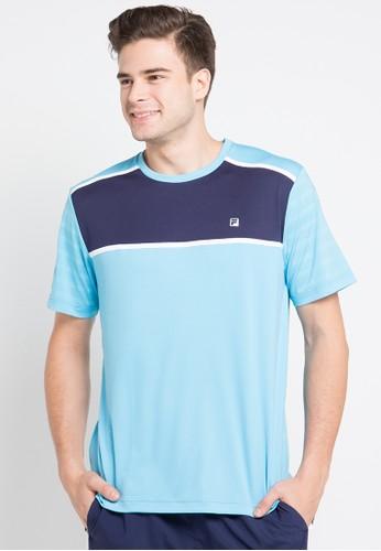 FILA blue T - Shirt FI346AA0U94OID_1