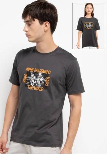 "D&F grey T-Shirt Sj ""Music And Change"" B9A8BAAB595CB3GS_1"