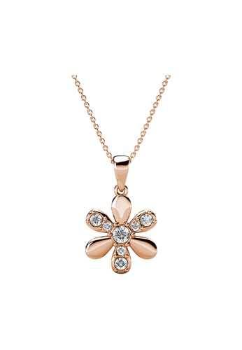 Her Jewellery gold Her Jewellery Fleur Pendant (Rose Gold) embellished with Crystals from Swarovski 873D0AC916C6B3GS_1