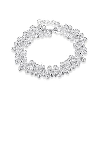 Glamorousky silver Elegant Fashion Geometric Ball Bead Bracelet 2C097AC4EA36BEGS_1