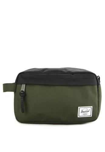 Herschel green and multi Chapter Travel Kit 34E69AC5ABD500GS_1