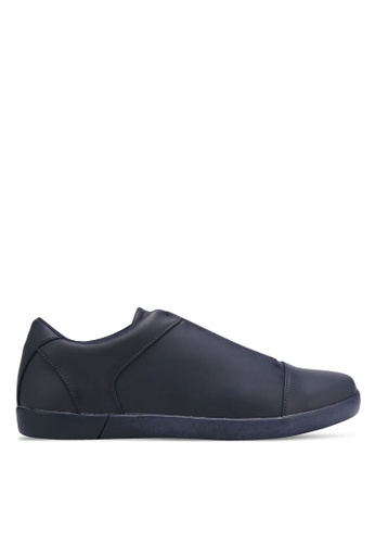 ZALORA navy Contemporary Elastic Band Slip Ons 466ACSH03DABF1GS_1