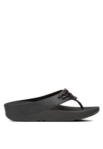 Fitflop black Tiararama Toe-Post Sandals FI522SH25SBMMY_1