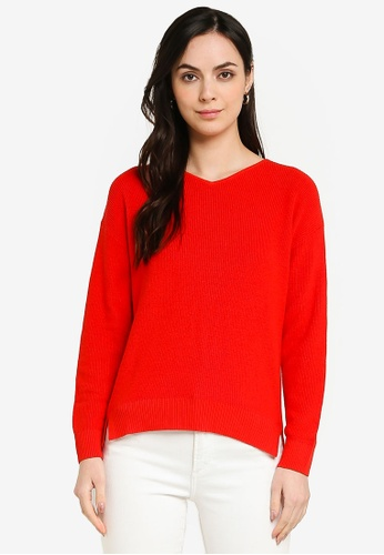 GLOBAL WORK red Cashmere Blend Pullover B353EAAB4C55F3GS_1