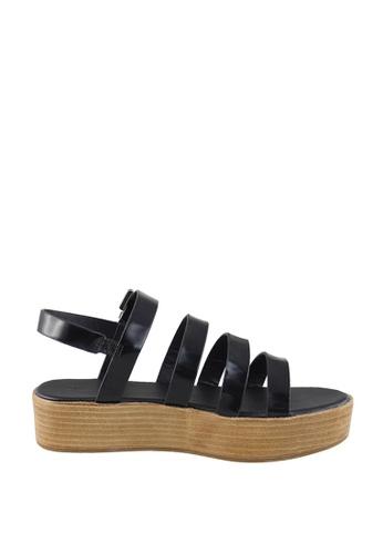London Rag 黑色 黑色多带凉鞋 F6B9FSHE061B24GS_1