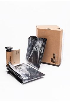 [Air Buster]球鞋專用真空保存袋(二入組+抽氣棒)-05222-F