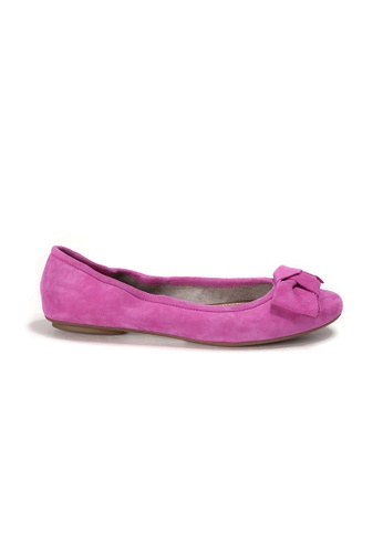 Shu Talk pink AMAZTEP NEW Comfy Sole Suede Leather BOW Ballerina Ballet Flats 80E08SH22204CDGS_1