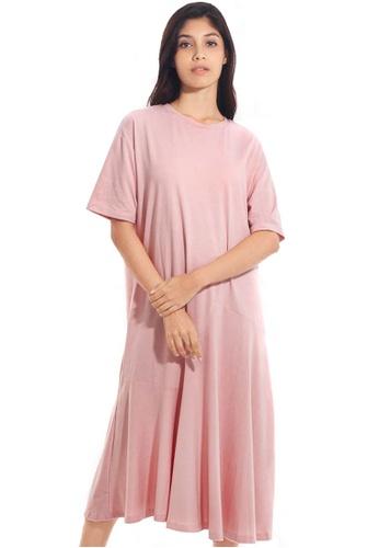 Kitschen pink Casual Oversized Dress 80C9EAA3E18442GS_1