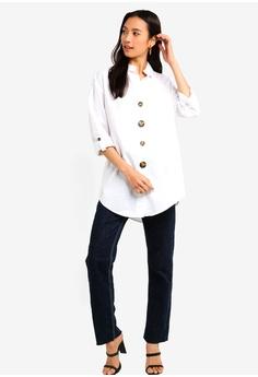 a049b21798 River Island Button Front Cotton Shirt S  49.90. Sizes XS S M L
