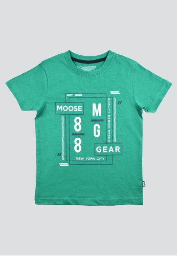 Moose Gear green T-Shirt Soft and Thin Cotton For Boys 2C2F2KADE64925GS_1