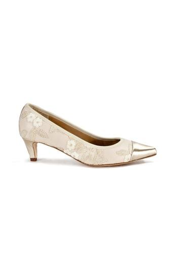 Shu Talk beige Vintage Elegant Chic Lace Heels 64181SHC26A986GS_1