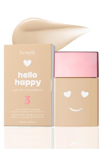 Benefit beige Hello Happy Soft Blur Foundation Shade 03 39FC0BE83761C9GS_1