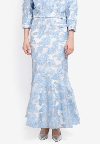 Zalia blue Jacquard Mermaid Skirt FC15BAAA472A3EGS_1