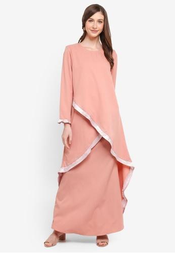 Gene Martino pink Kurung Modern Cross Design F71CAAAFF999A8GS_1