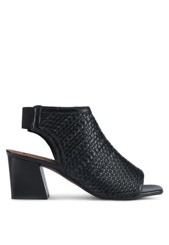 TOPSHOP black Nifty Woven Heeled Sandals 6B529SH6A620D4GS_1