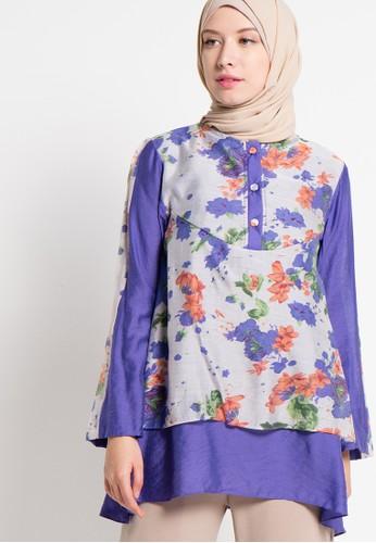 Aira Muslim Butik purple Ardilla Layer Blouse AI892AA58PHTID_1