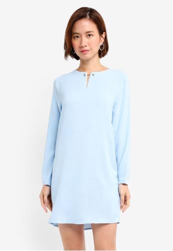 ZALORA blue Metal Hardware Shift Dress D3487AA1979A1EGS_1
