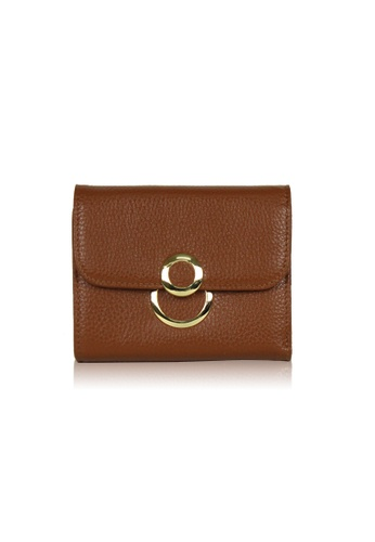Dazz brown Calf Leather 8 Wallet - Brown DA408AC0S9JTMY_1