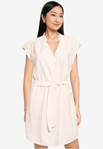 ONLY beige Josey Short Sleeve Dress AEA1FAA991E9C3GS_1