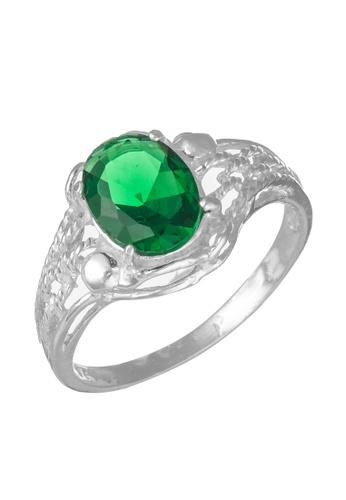 Elfi green Elfi 925 Genuine Silver Engagement Ring M26- Green Enchantress EL186AC59FEMMY_1