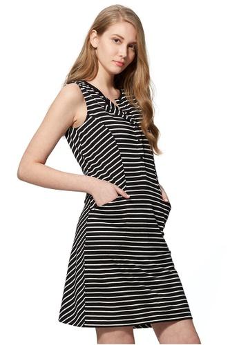 5afb403d483fc Mamaway black Cool Cotton Maternity & Nursing Dress 3B983AA3D01E32GS_1