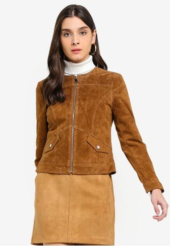 a834b76052dc9 Buy Vero Moda Manon Royce Short Suede Jacket Online on ZALORA Singapore