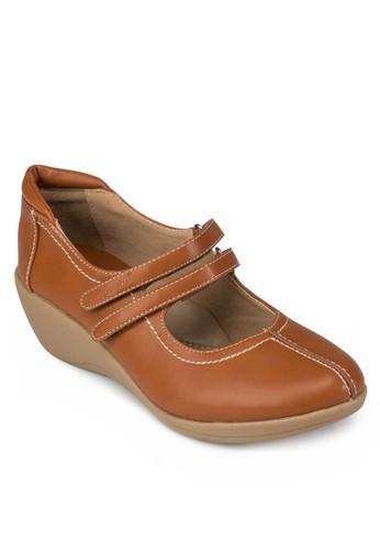雙魔術氈楔型跟鞋, 女鞋, esprit outlet hong kong涼鞋