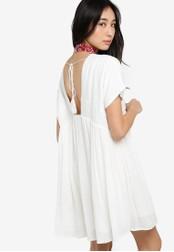 Something Borrowed white V-Neck Uneven Hem Tunic Dress 5A0BCAA610B1A5GS_1