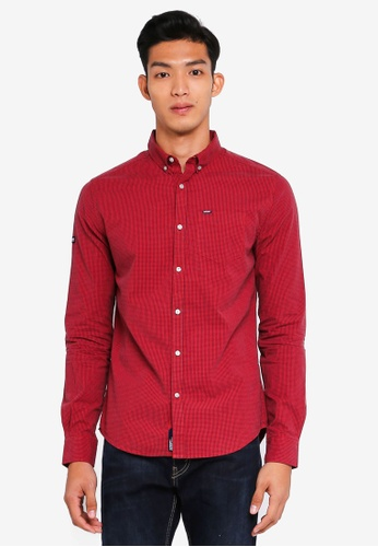 Superdry red Ultimate Univrsty Oxford Shirt 94A07AADBC0BFDGS_1