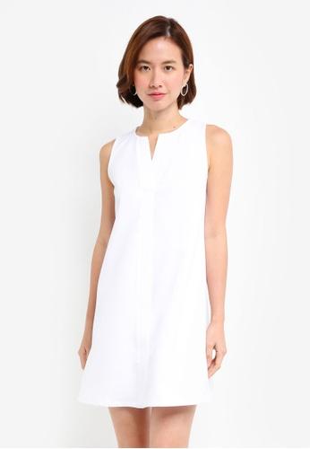 ZALORA BASICS white A Line Dress F86EDAAA7653A1GS_1