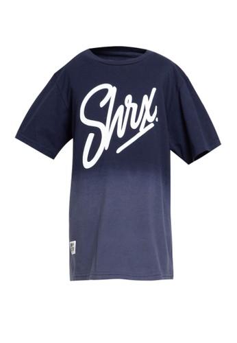SHARKS blue Sprayed Typo Tshirt 8864CKA70BFDDFGS_1