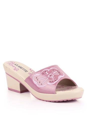 CLARETTE pink Clarette Sandal Heels Georgina Pink CL076SH98KZTID_1
