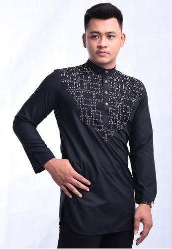 UA BOUTIQUE black Kurta Batik SEKLC06-011 (Black) 74594AAE9CEF67GS_1