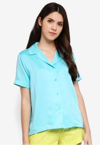 Supre blue Satin Sleep Shirt DFA36AACB9AF83GS_1
